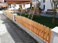 gartenzaun aus holz zum selber machen. fichtenholz und lärchenholz, Moderne