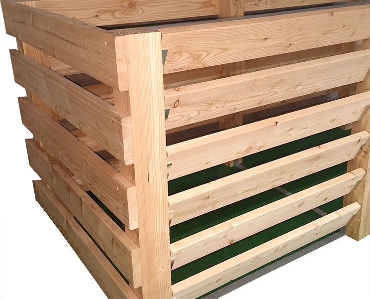 g nstiger komposter aus l rchenholz direkt vom hersteller online kaufen komposter zur selbstmontage. Black Bedroom Furniture Sets. Home Design Ideas